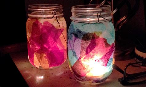 Tissue Paper Lantern Craft - diy craft tissue paper lanterns badger