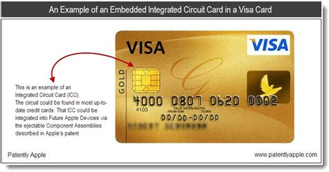 integrated circuit microprocessor card apple reveals possible iwallet implementation in portables