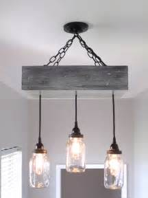 Rustic Chandelier Lighting Fixtures Rustic Jar Chandelier Lighting By Outofthewdworkdesign