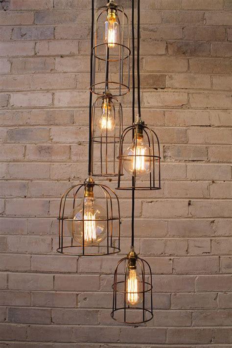 cage light chandelier  drop industrial style lighting