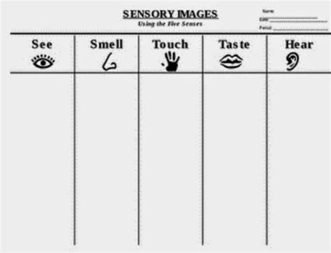 5 senses writing template poetry writing for sensory poems planet smarty