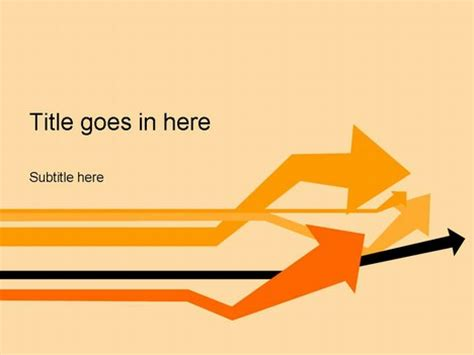 arrow powerpoint template arrows orange template