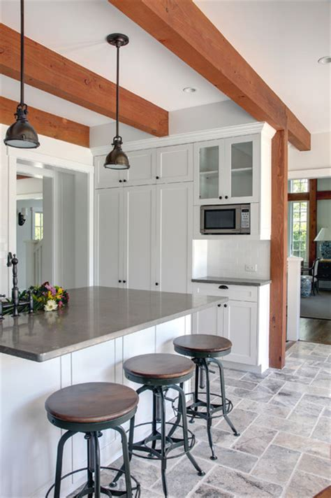 the tate post and beam barn home traditional kitchen