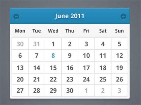 Calendar Widget 60 User Interface Calendar Inspirations And Downloads