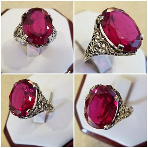 Ruby 8 7ct 81 jewelry genuine 7ct ruby ring size 8 from s