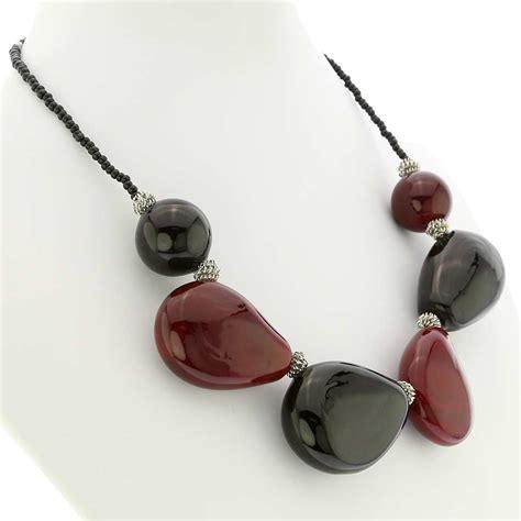 glass for jewelry murano necklaces vesuvio murano glass necklace and