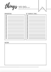 to do template free printable printable to do list get things written and done