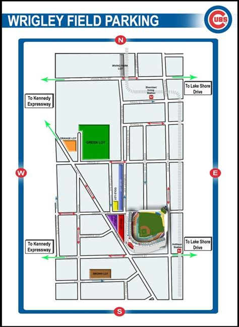 transportation parking chicago cubs race to wrigley