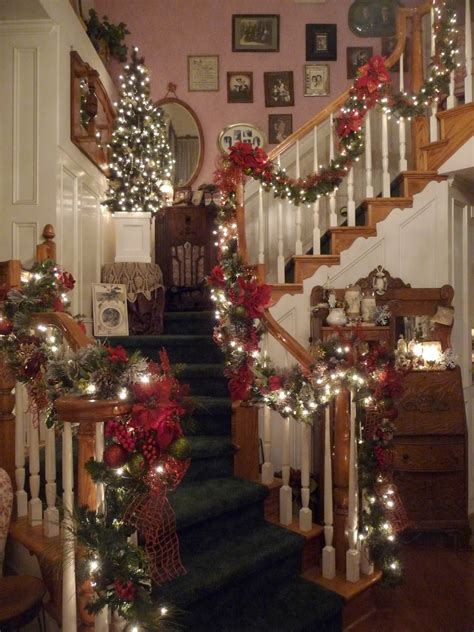 christmas banister decorations heirlooms christmas banister