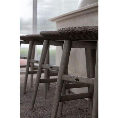 Grey Wicker Outdoor Bar Stools by Summer Classics Wind Oyster Grey Wicker Outdoor Barstool