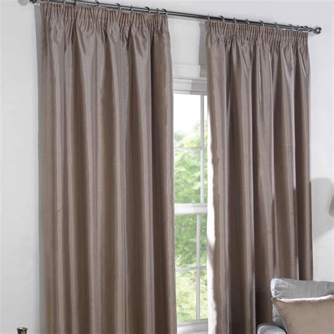 taupe curtains uk blackout curtains taupe faux silk pencil pleat blackout