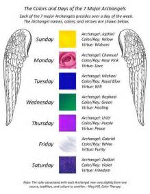 what was the original color of st day the colors and days of 7 major archangels reiki with friends