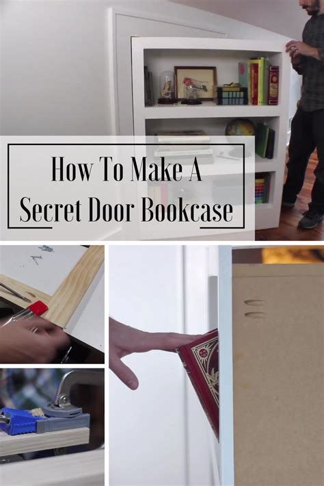how to build a hidden door bookcase how to make a secret door bookcase home and gardening ideas