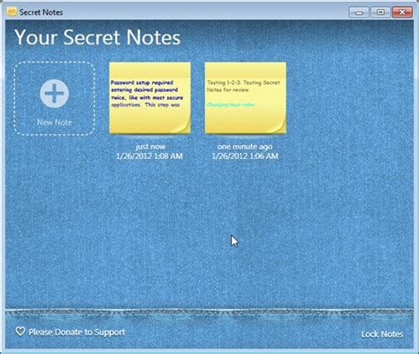 secret notes password protect your notes with secret notes