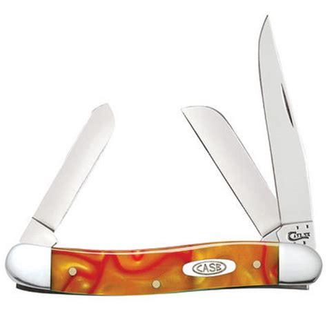 medium stockman xx smooth orange synthetic kirinite medium stockman pocket knife stainless ebay