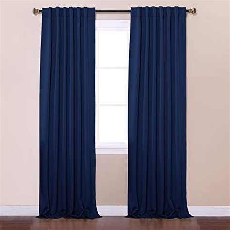 Navy Thermal Curtains Best Home Fashion Thermal Insulated Blackout Curtains Back Tab Rod Pocket Navy 52