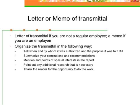 Recommendation Report Letter Of Transmittal Report Writing