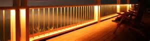Patio Railing Lights Living Room Stylish Railing Mount Deck Lighting Rail
