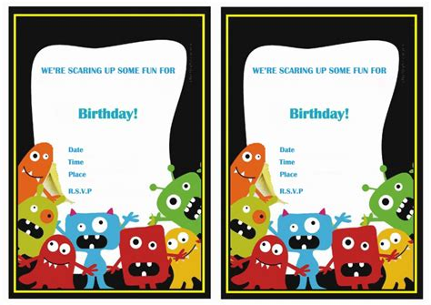 free printable monster birthday decorations monsters university birthday invitations birthday printable