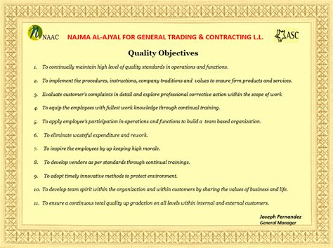 naac quality objectives
