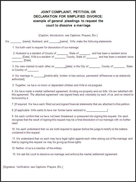 Free divorce papers for minnesota