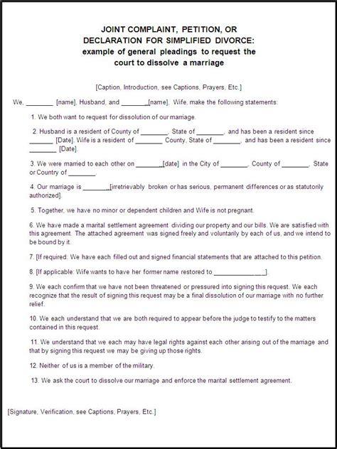 Colorado free legal divorce form