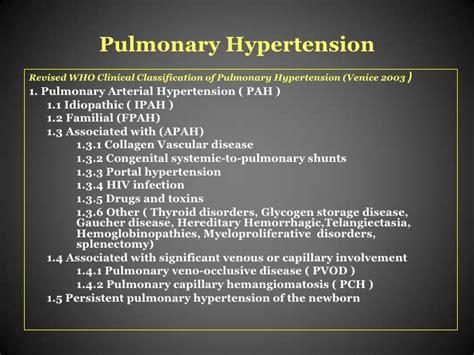 ipertensione porto polmonare ipertensione polmonare primitiva