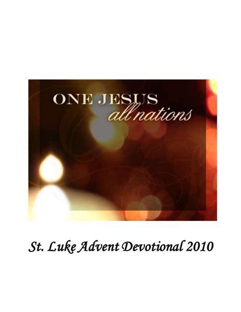 advent devotional advent devotional booklet 2010