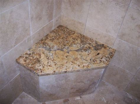 granite shower seat built in shower seats benches corner shower seat