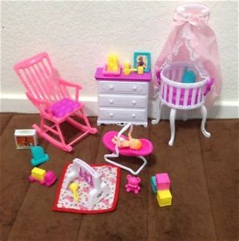 barbie doll house furniture sets new barbie size dollhouse furniture gloria baby home nursery set