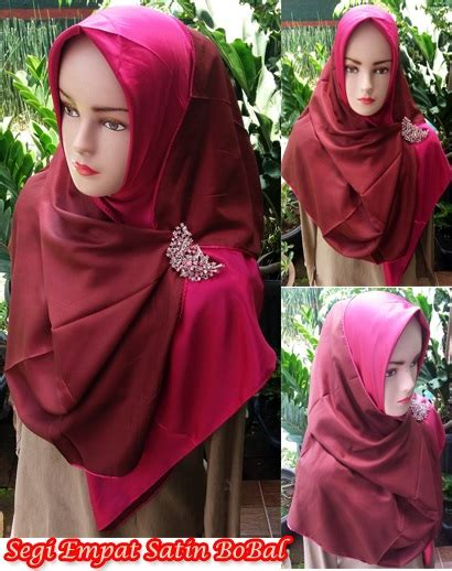 Jilbab Kerudung Segiempat Satin Motif Abstrak jilbab bolak balik sentral grosir jilbab kerudung i