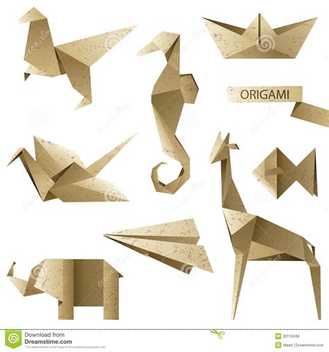 Origami Set For - fashioned origami set royalty free stock images