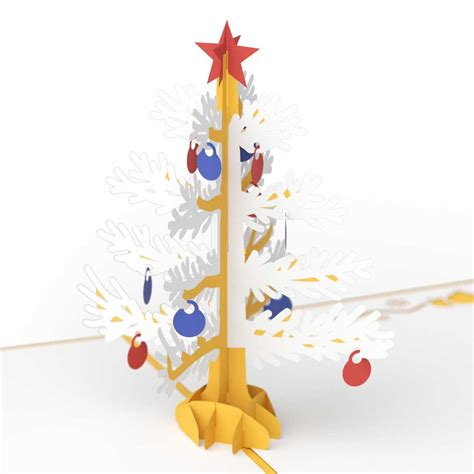 3d christmas tree pop up holiday card gold lovepop