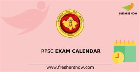 rpsc exam calendar   released rajasthan psc exam sheet