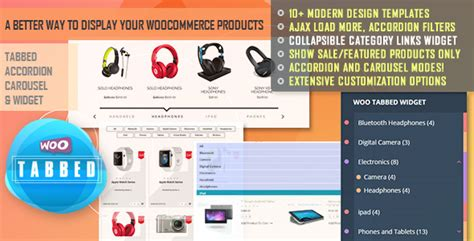 Woocommerce Tabbed Category Product Listing Pro By Quantumcloud Codecanyon Woocommerce Product Listing Page Template