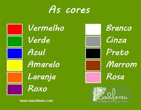 colors in portuguese a dica do dia free portuguese