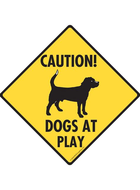 dogs at play caution dogs at play aluminum signs