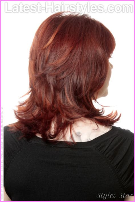 back view of medium layered haircuts medium length haircuts with layers back view stylesstar