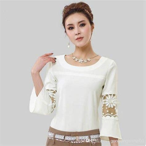 Korea Top Longsleeve Renda Blackk Wgset0161 17 best images about my style tops on chiffon