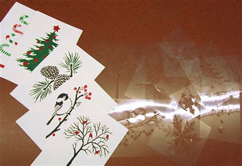 make your own photo cards at home home dzine craft ideas stencilled or greeting