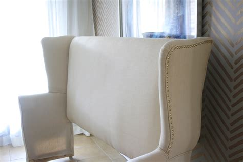 diy wingback upholstered headboard diy upholstered wingback headboard mimzy company