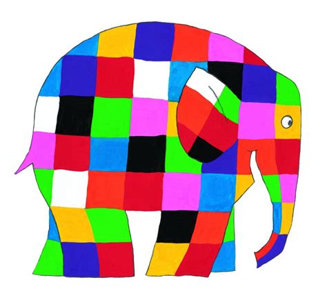 Elma The Patchwork Elephant - elmer images