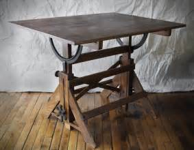 Vintage Wood Drafting Table Vintage Drafting Table Fantastic Metal Hardware Great Patina Hartong International