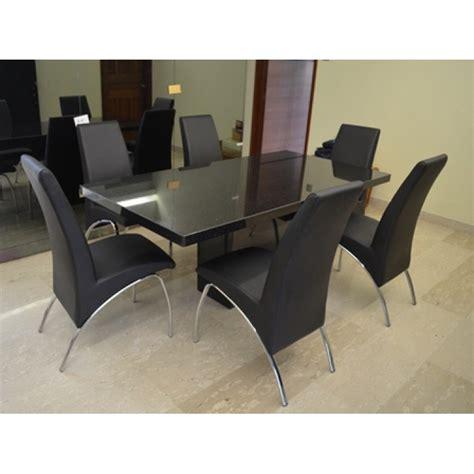 black galaxy 6 seater granite table