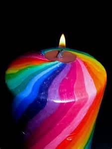the colorful white colorful candle