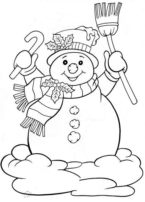 christmas coloring pages snowman 17 best images about omalov 193 nky on pinterest coloring