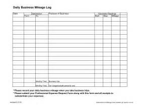 Business Mileage Template by 9 Best Images Of Daily Business Expense Sheet Printable
