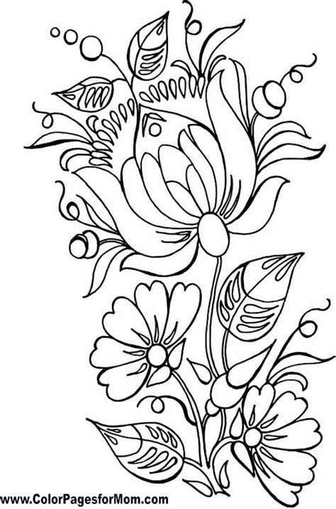 Coloring Pages For Flowers by 1000 Images About Coloring Pages On Flower