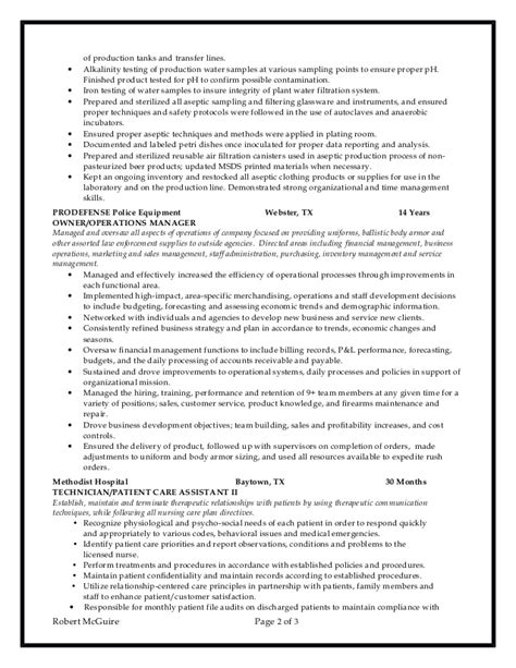 Lab Technician Resume by Chemical Lab Technician Resume 6 10 2016
