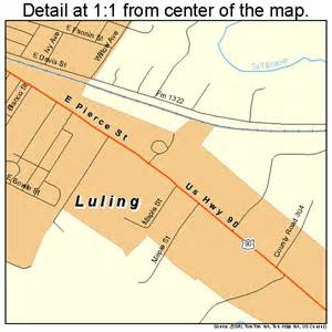 where is luling on a map luling map 4845096